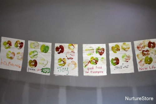 prayer flags Thanksgiving craft for kids