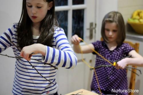 autumn craft twig weaving
