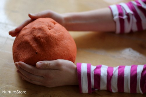 orange playdough recipe