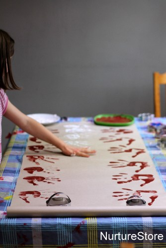 Christmas handprint craft