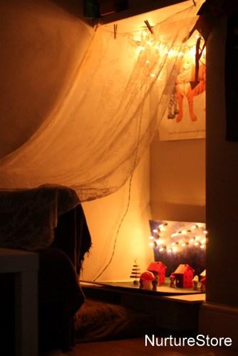 make a fairy land with fairy lights   NurtureStore
