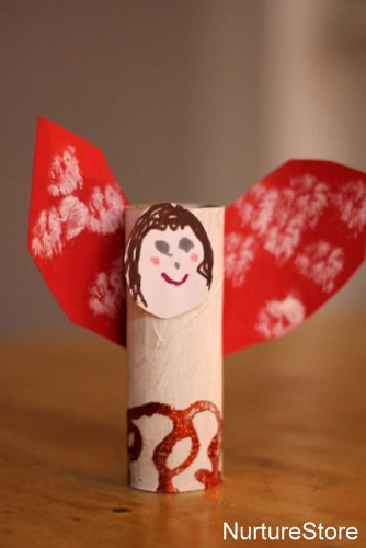 loo roll angel Christmas craft