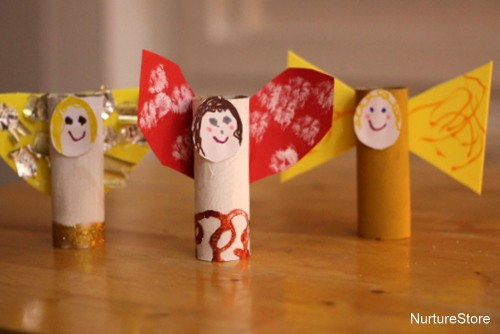 easy Christmas angel craft toddlers
