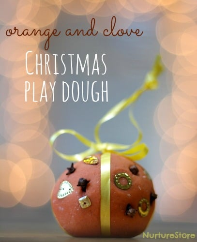 Lovely orange and spice Christmas play dough recipe!
