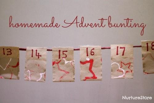 easy homemade advent bunting | NurtureStore
