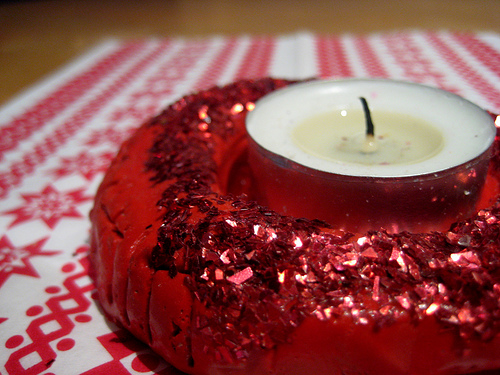 salt dough candle holder