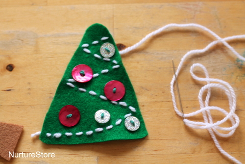 sew simple Christmas tree ornament