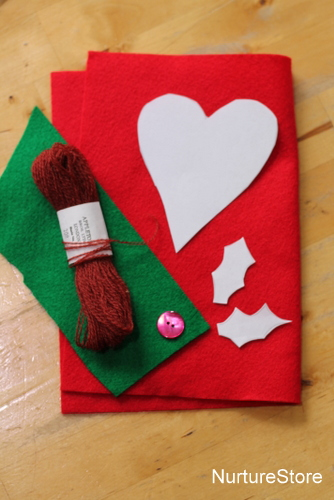 simple sewing kids heart decoration