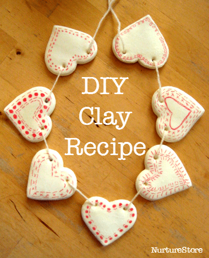 Great DIY homemade clay recipe. Lovely for Christmas crafts