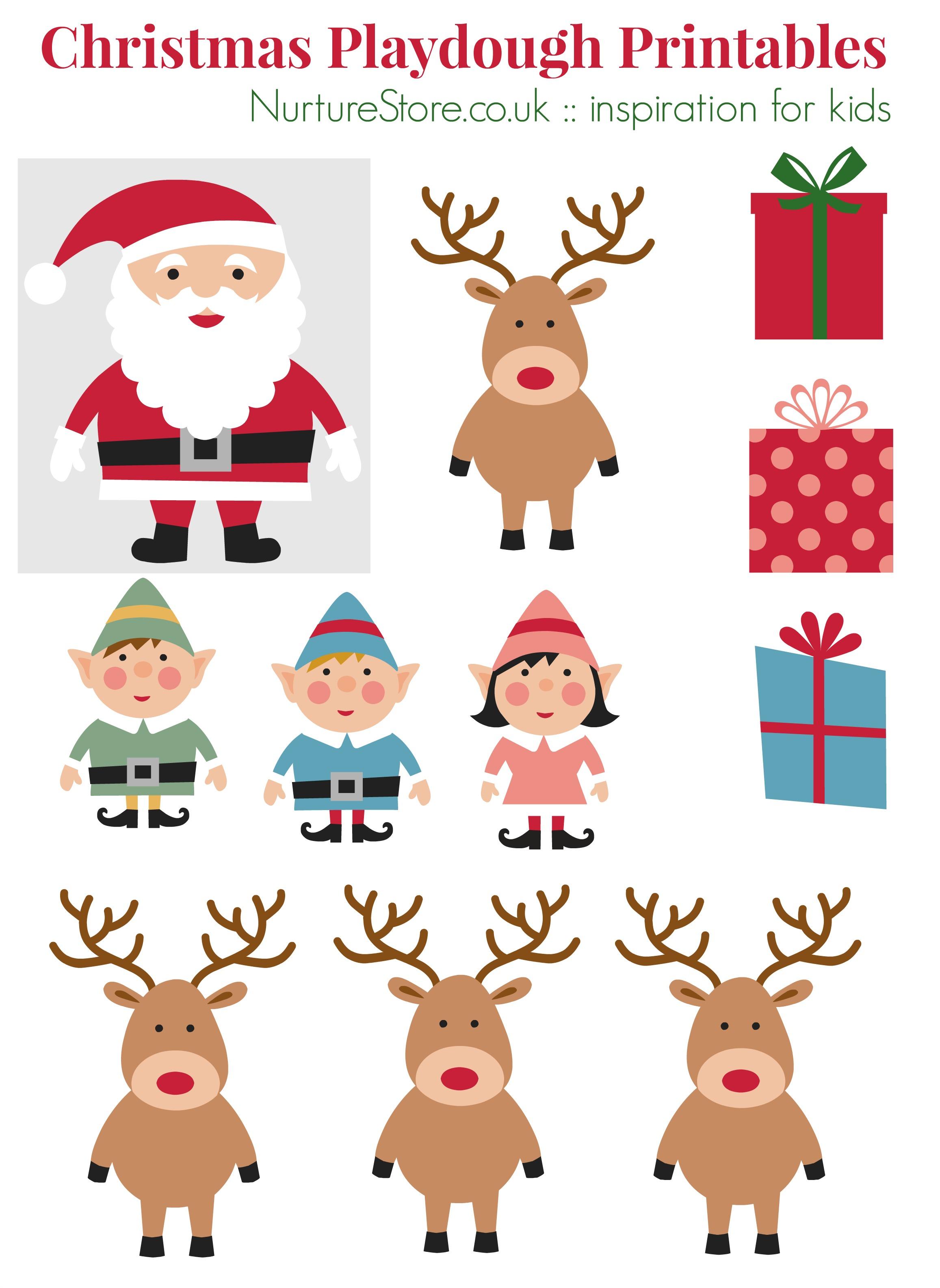 Father Christmas printables for playdough - NurtureStore