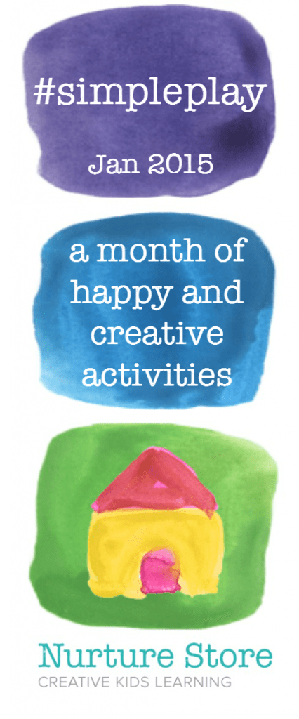 A month of simple play activities promoting play-based learning and creative play