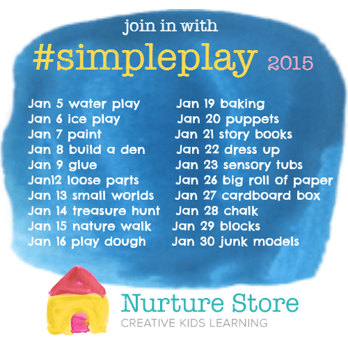 A month of simple play activities