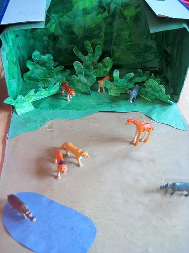 cardboard box jungle