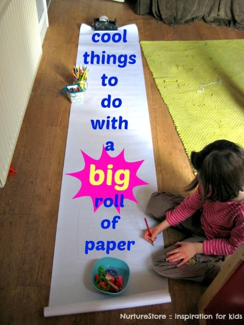 Cool things to do with a BIG roll of paper :: NurtureStore :: inspiration for kids