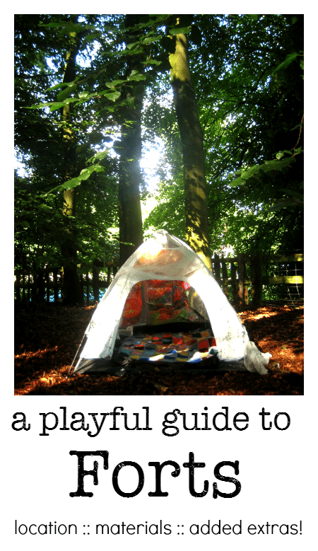 A playful guide to how to build a child's fort