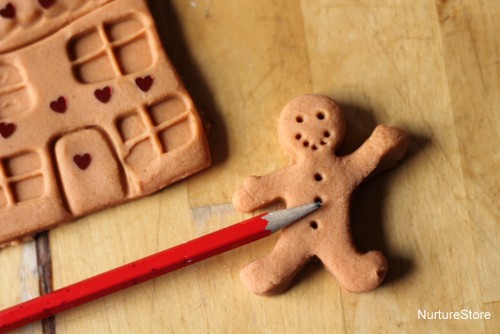 play dough gingerbread man activity
