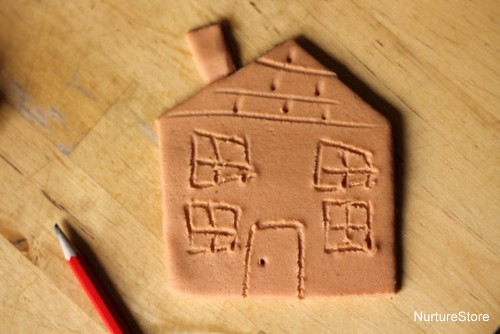 play dough gingerbread house