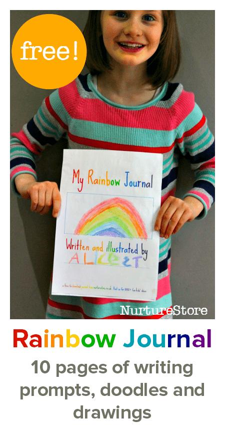 free journal printable for kids :: writing prompts for kids :: printable journal pages