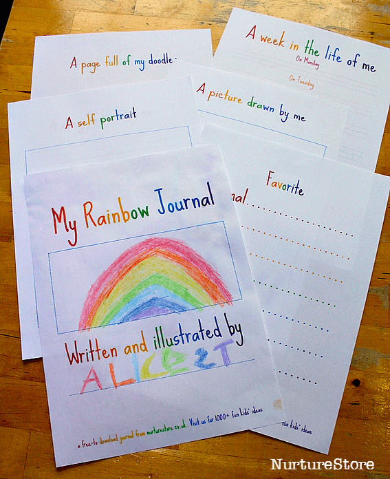 free printable journal pages for children