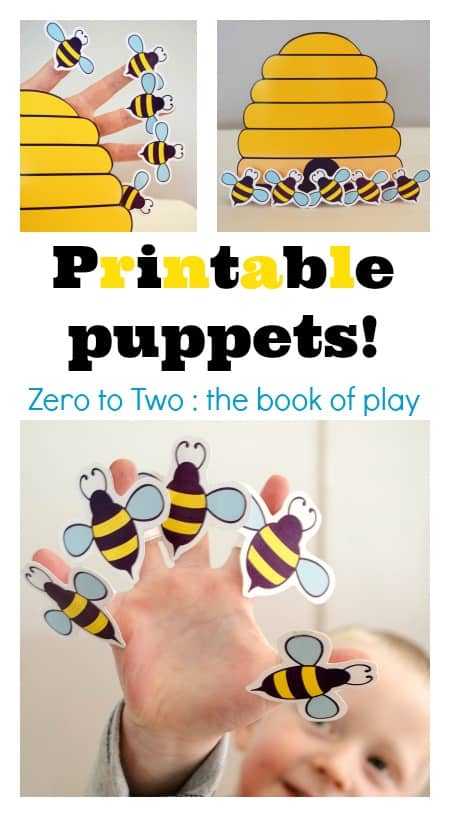 prinatable puppets kids songs bees