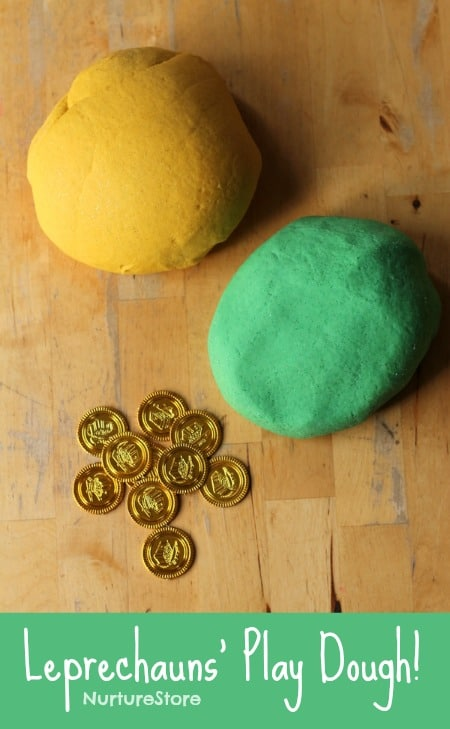 Fun St. Patrick's activities for kids :: leprechaun play dough