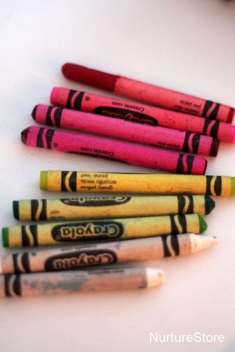kids art wax crayons