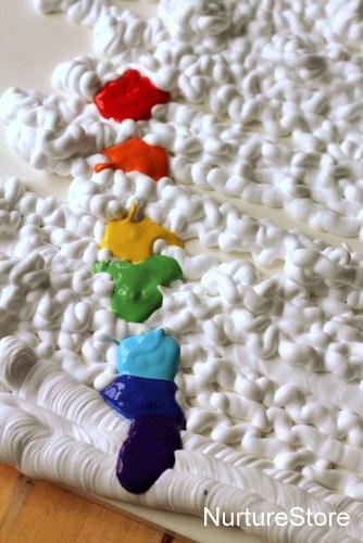 rainbow theme sensory play