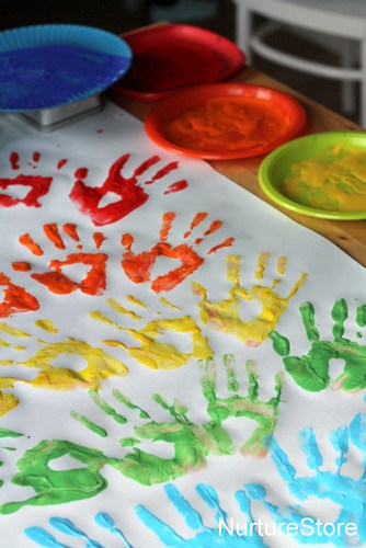 rainbow handprints craft