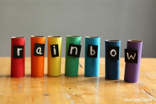 rainbow themed literacy activities