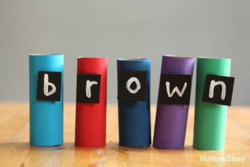 rainbow themed word games