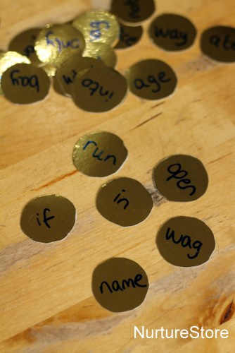 gold coin literacy game