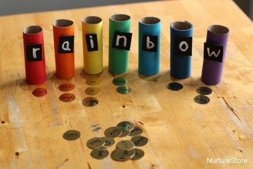 rainbow sight word game