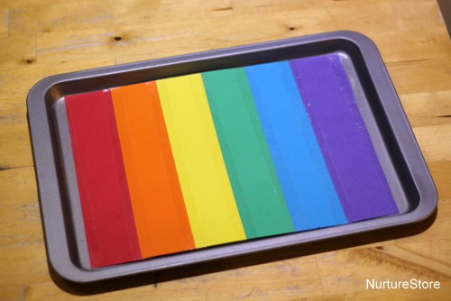 rainbow salt tray