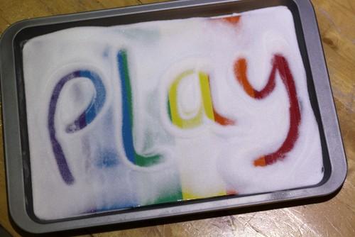 rainbow salt tray spellings