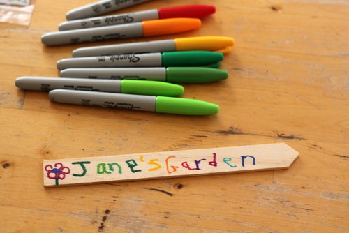 planting a garden for children