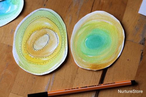 spring art watercolor flowers