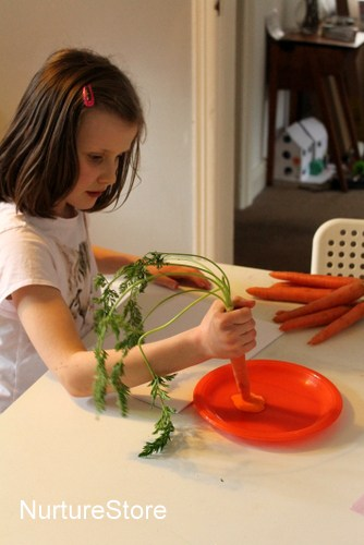easter crafts carrots