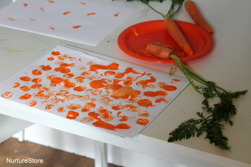 easter crafts carrot printing
