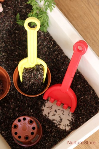 spring sensory play garden