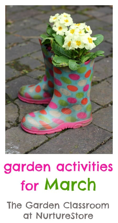 Great tips and garden activities for march with ideas for gardening with kids