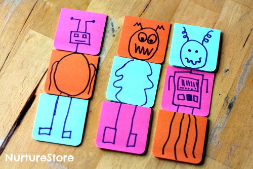 post it note monster game