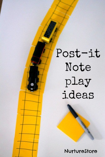 post it note play activities