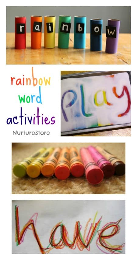 rainbow themed literacy activities