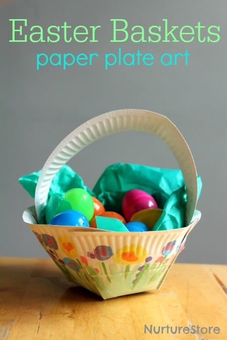 paper plate easter basket craft nurturestore