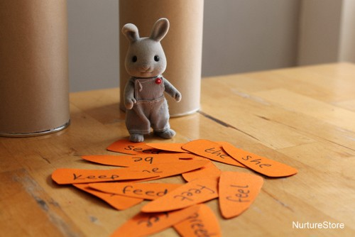 sorting games spring theme rabbits