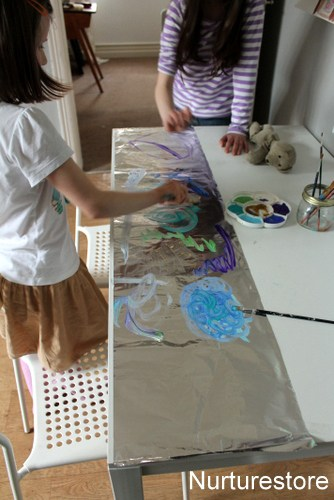 how to make foil painting