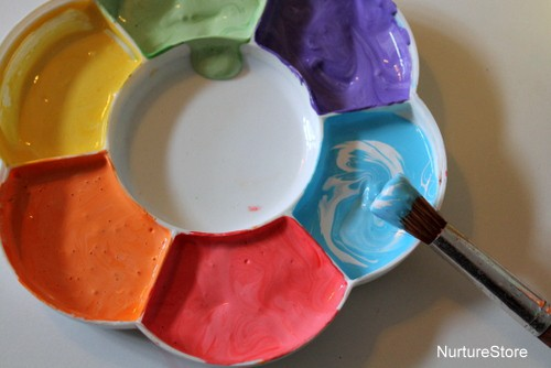 easter craft. Each child painted their own design on to the \u0027wrong\u0027 side of the paper plate. This side takes the paint better than the waxed side ... & Paper plate Easter basket craft - NurtureStore