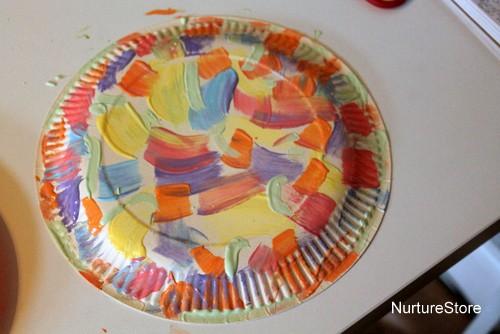 paper plate craft basket & Paper plate Easter basket craft - NurtureStore