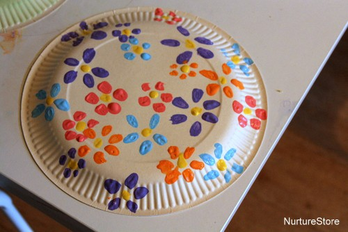 easter paper plate flowers craft