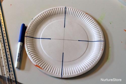 Paper plate easter basket craft nurturestore how to make an easter basket negle Gallery